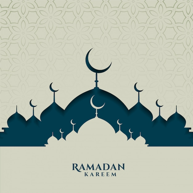 Islamische festivalkarte für ramadan kareem saison Kostenlosen Vektoren