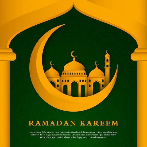 Islamischer hintergrundentwurf des ramadan kareem Premium Vektoren