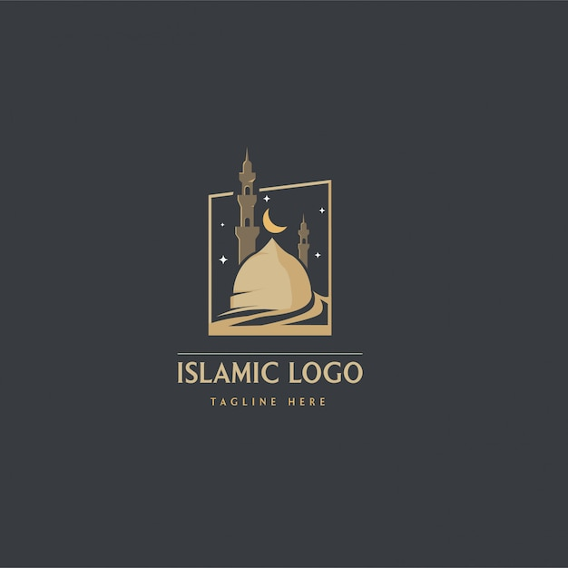 Islamisches logo Premium Vektoren