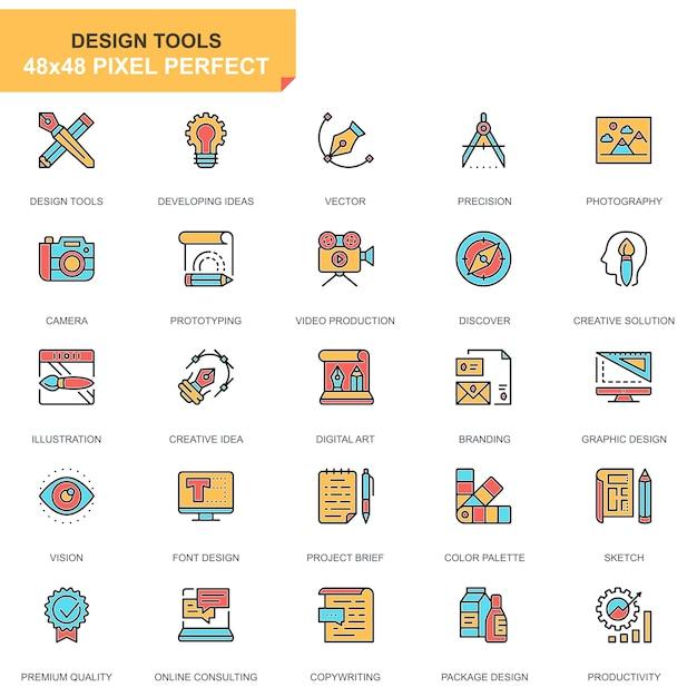 Isoelektrisches design-tools icons set Premium Vektoren