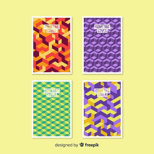 Isometrische broschüre pack Kostenlosen Vektoren