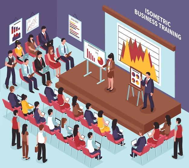 Isometrische business-training Kostenlosen Vektoren