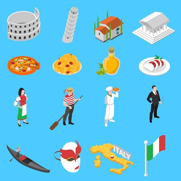 Isometrische ikonen-sammlung der deutschen kultur-traditionen Kostenlosen Vektoren