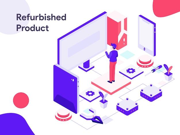 Isometrische illustration des überholten produkts Premium Vektoren