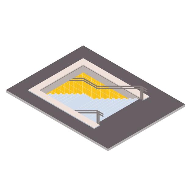 Isometrische illustration des untertagefußgängerübergangs. u-bahn 3d Premium Vektoren