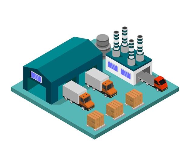 Isometrische industrie Kostenlosen Vektoren