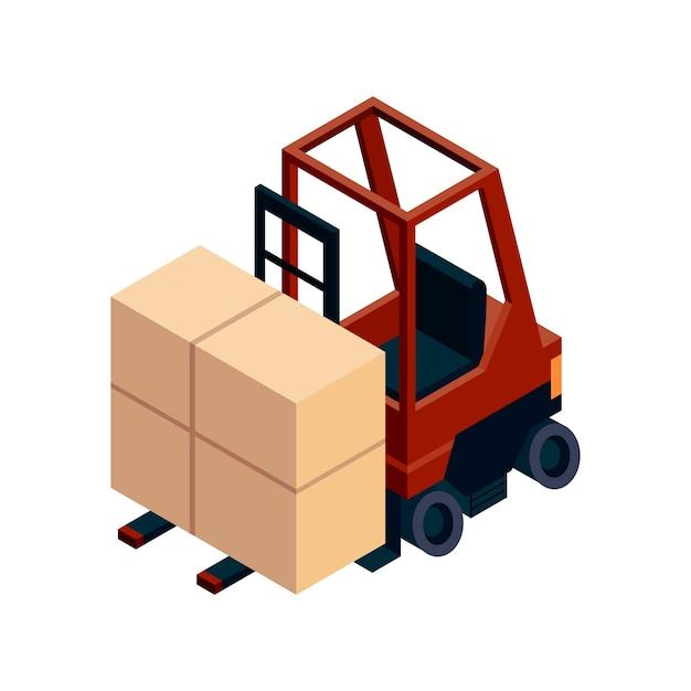 Isometrische logistik. transport isometrisches element. Premium Vektoren