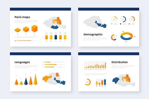 Isometrische pariser kartenstatistik Kostenlosen Vektoren