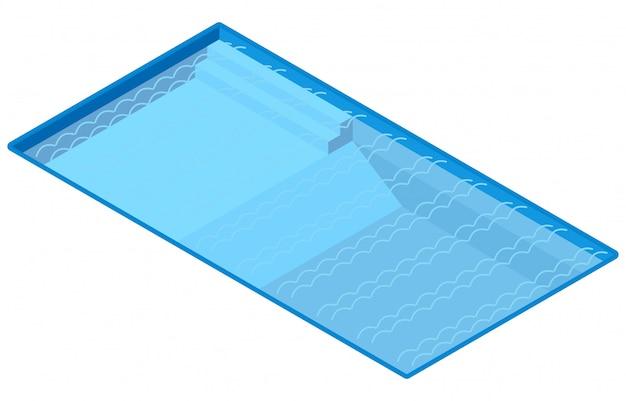 Isometrischer außenpool, illustrationsvektor Premium Vektoren