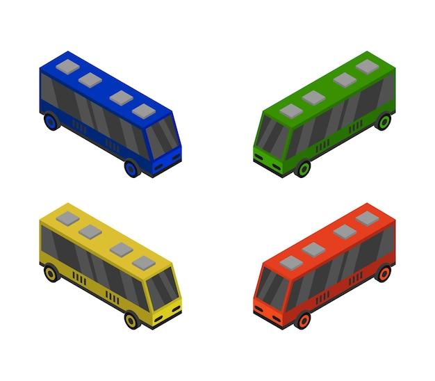 Isometrischer bussatz Kostenlosen Vektoren