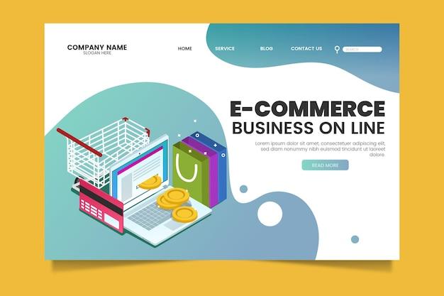 Isometrischer e-commerce - zielseiten Kostenlosen Vektoren