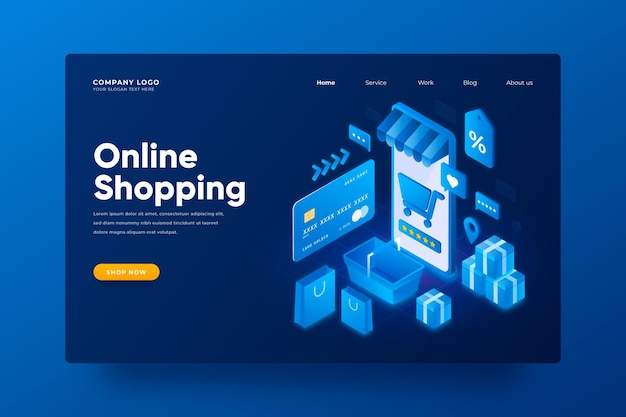 Isometrischer e-commerce Kostenlosen Vektoren