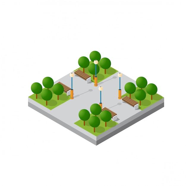 Isometrischer modulblock Premium Vektoren