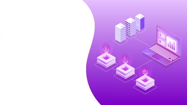 Isometrisches design der virtuellen geldwechselplattform. Premium Vektoren