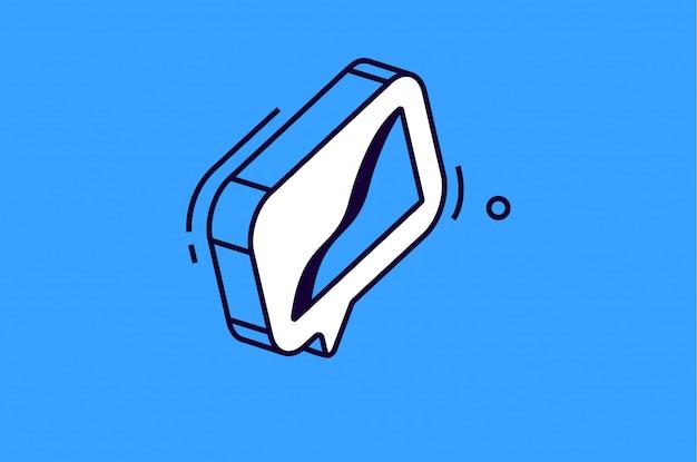 Isometrisches diagrammsymbol auf blauem hintergrund Kostenlosen Vektoren