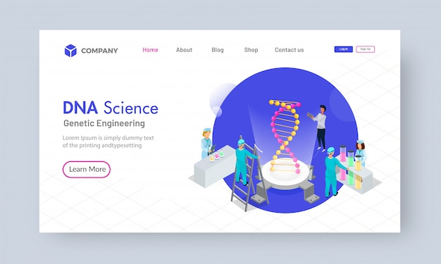 Isometrisches dna-wissenschaftsanalysekonzept Premium Vektoren