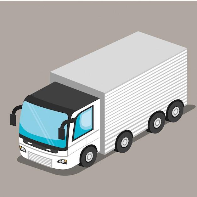 Isometrisches fahrzeug Kostenlosen Vektoren