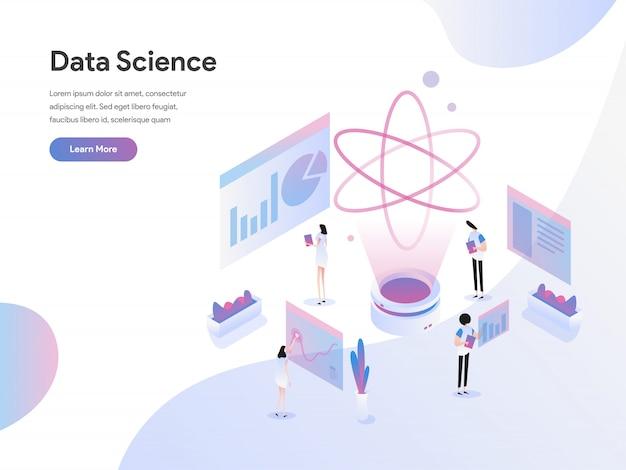 Isometrisches illustrations-konzept der datenwissenschaft Premium Vektoren