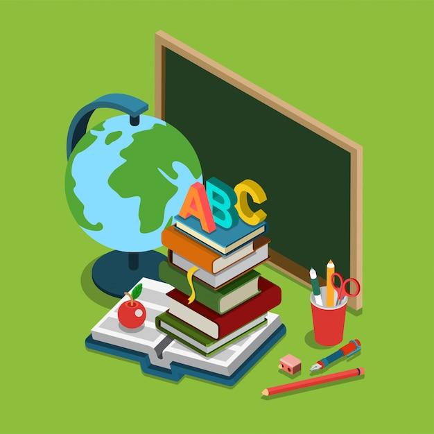 Isometrisches konzept der schulhochschul-hochschulbildung Kostenlosen Vektoren