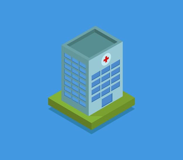 Isometrisches krankenhaus Premium Vektoren
