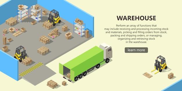 Isometrisches lager, lieferservice Kostenlosen Vektoren