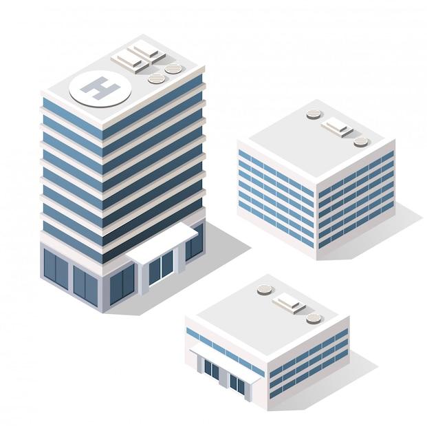 Isometrisches set-modul Premium Vektoren