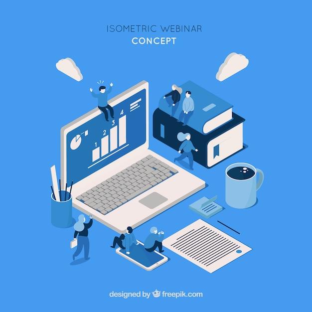 Isometrisches webinar-design Kostenlosen Vektoren