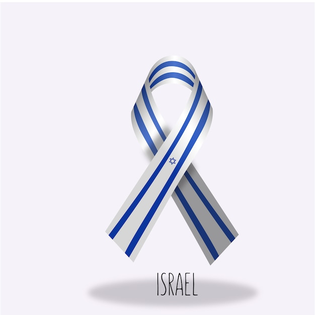 Israel-flaggenbandentwurf Kostenlosen Vektoren