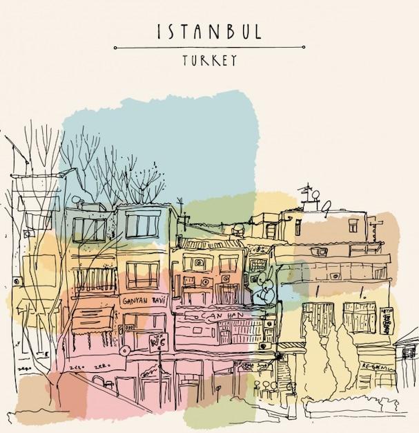 Istanbul hintergrund-design Kostenlosen Vektoren