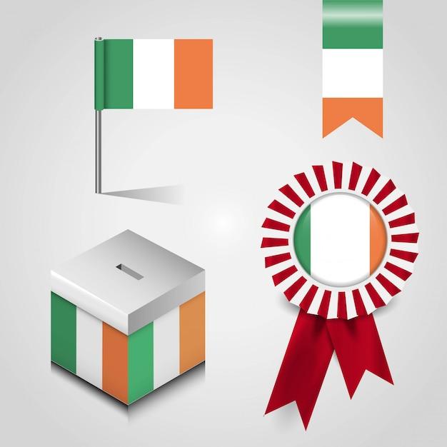 Italien-flagge mit kreativem design vektor Kostenlosen Vektoren