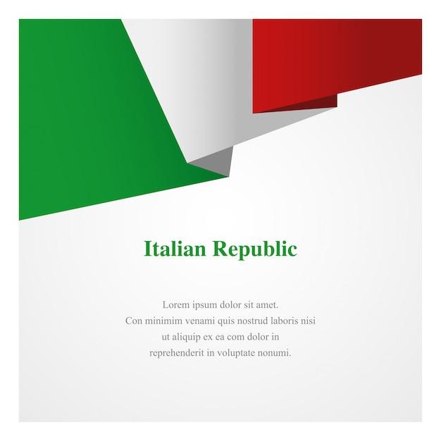 Italien insignia vorlage Premium Vektoren