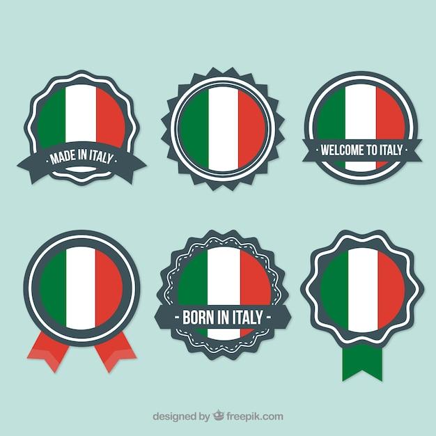 Italienisch abzeichen vektor-pack Kostenlosen Vektoren