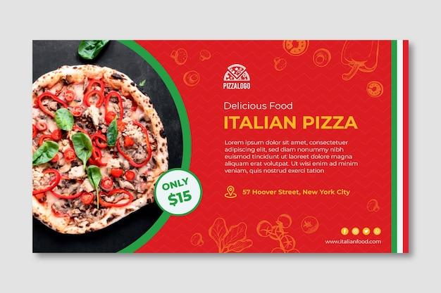 Italienische lebensmittel-banner-vorlage Premium Vektoren