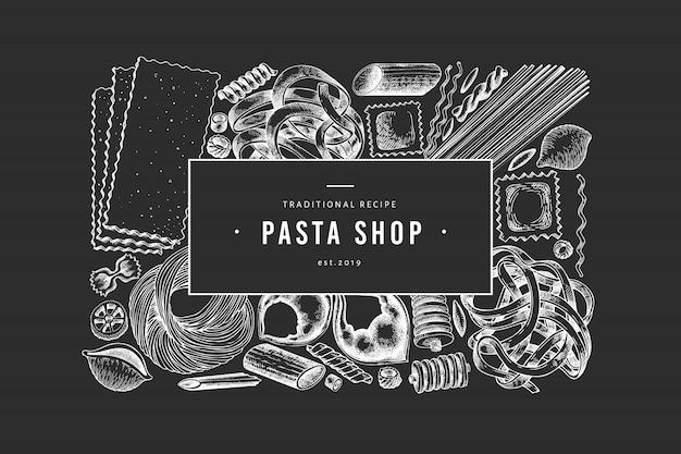 Italienische pasta banner Premium Vektoren