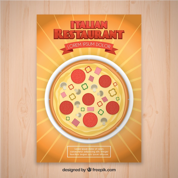 Italienischer restaurant flyer Kostenlosen Vektoren