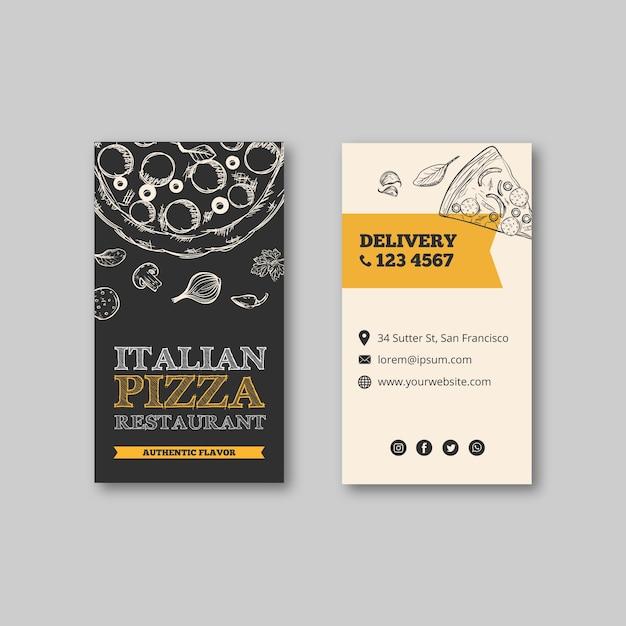 Italienischer restaurantvorlagenflieger Kostenlosen Vektoren