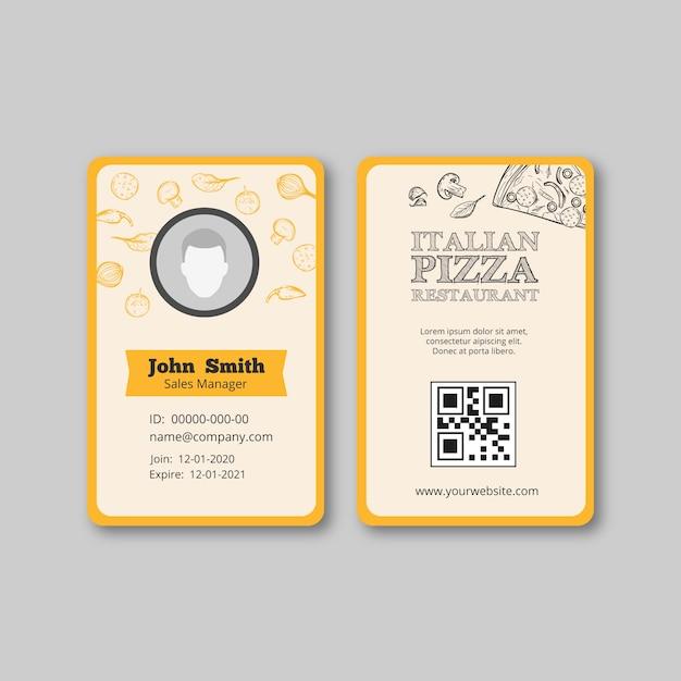 Italienisches restaurantschablonenfliegerthema Kostenlosen Vektoren