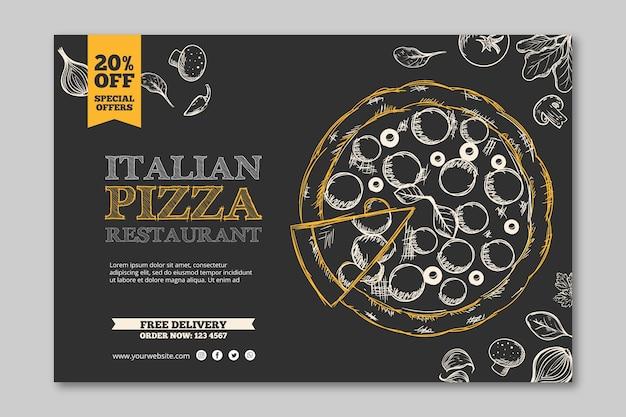 Italienisches restaurantvorlagenbanner Kostenlosen Vektoren