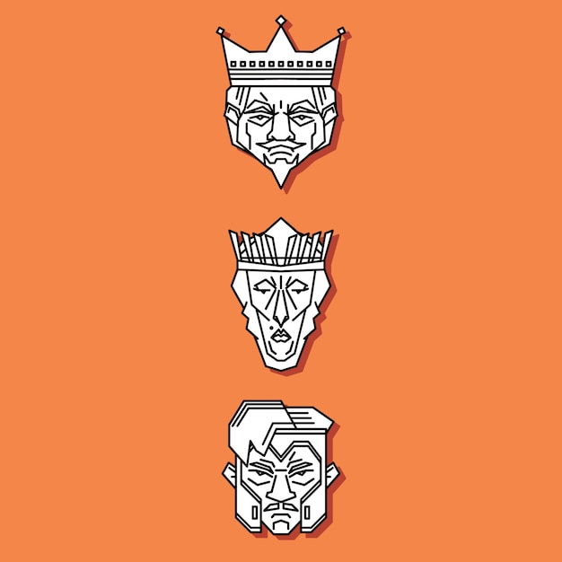 Jack queen king Premium Vektoren