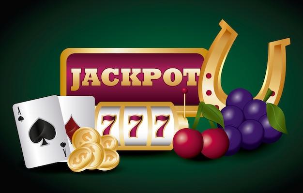 Jackpot und casino Kostenlosen Vektoren