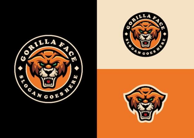 Jaguar leopard emblem maskottchen modern character logo design Premium Vektoren