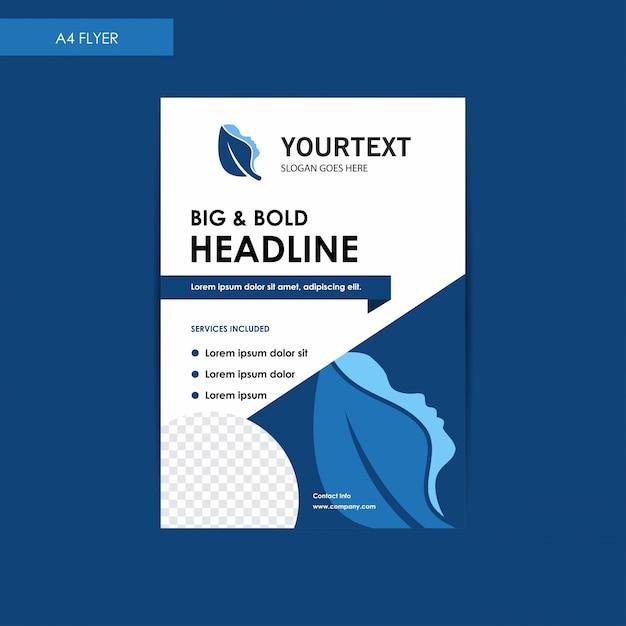 Jahresbericht Broschüre Flyer Vorlage, Blue Cover Design, Spa ...