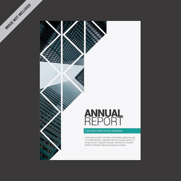 Jahresbericht mit geometrischem design Kostenlosen Vektoren