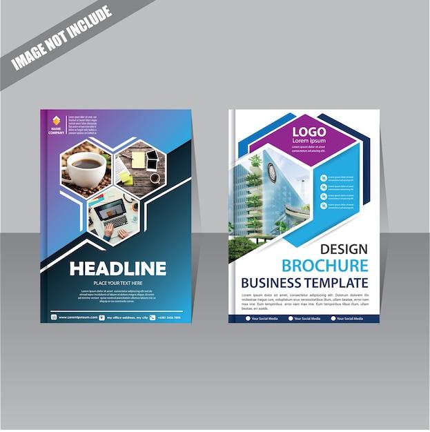 Jahresbericht-plakatflieger des broschürenplans mit geometrischer form Premium Vektoren