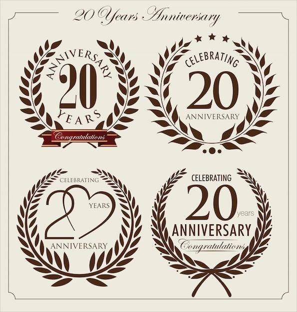 Jahrestag hintergrund Premium Vektoren