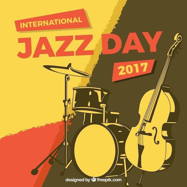 Jahrgang abstrakten hintergrund mit jazz-instrumente Kostenlosen Vektoren