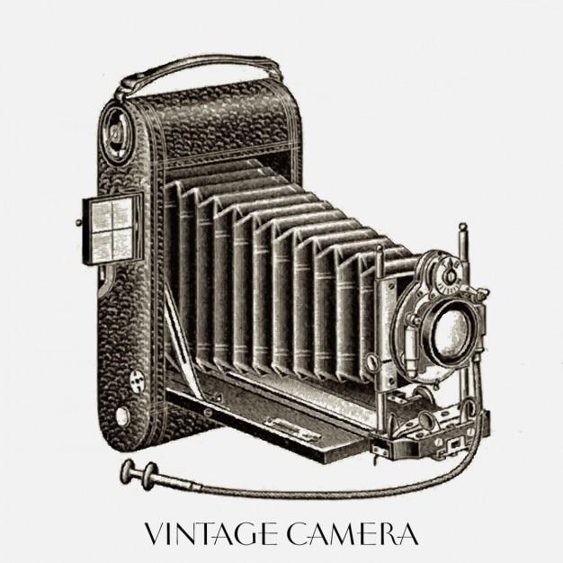 Jahrgang kamera Kostenlosen Vektoren