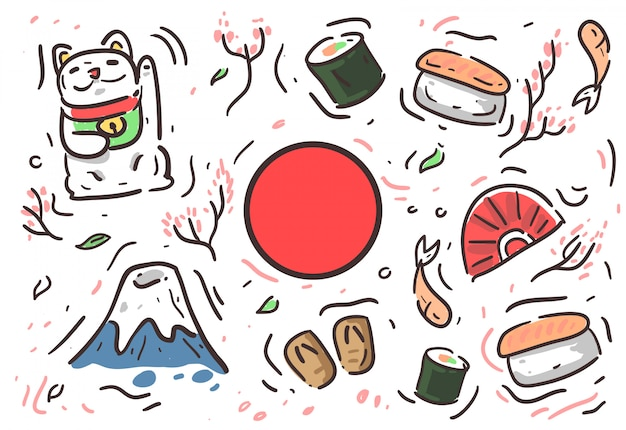 Japan kultur hintergrund Premium Vektoren