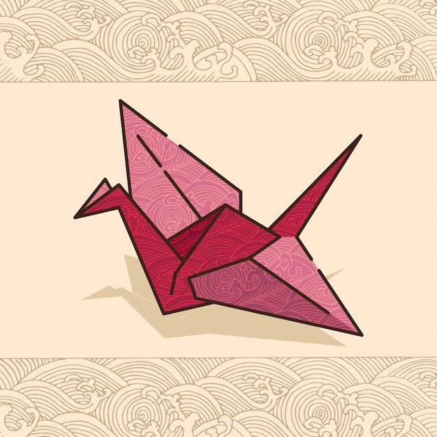 Japanische festival kulturzeitung bird Premium Vektoren