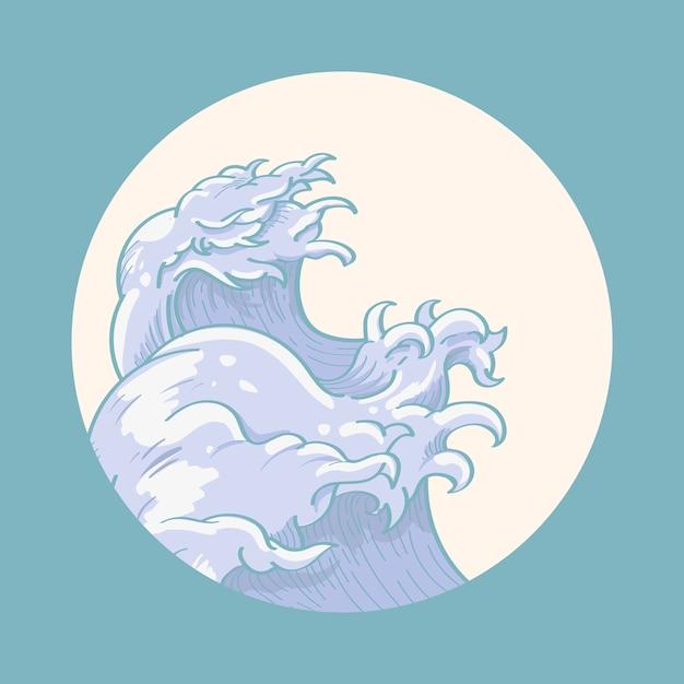 Japanische wellenkunst Kostenlosen Vektoren